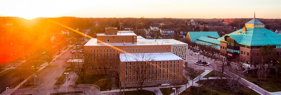 Photo of OWU Campus at sunset